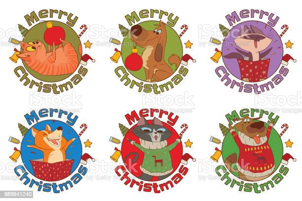 Set of frames merry christmas cute cats and dogs vector id889941240?b=1&k=6&m=889941240&s=612x612&h=uuibs ajcaayhmadqgwavlu s8z25tbloyibad2zydi=