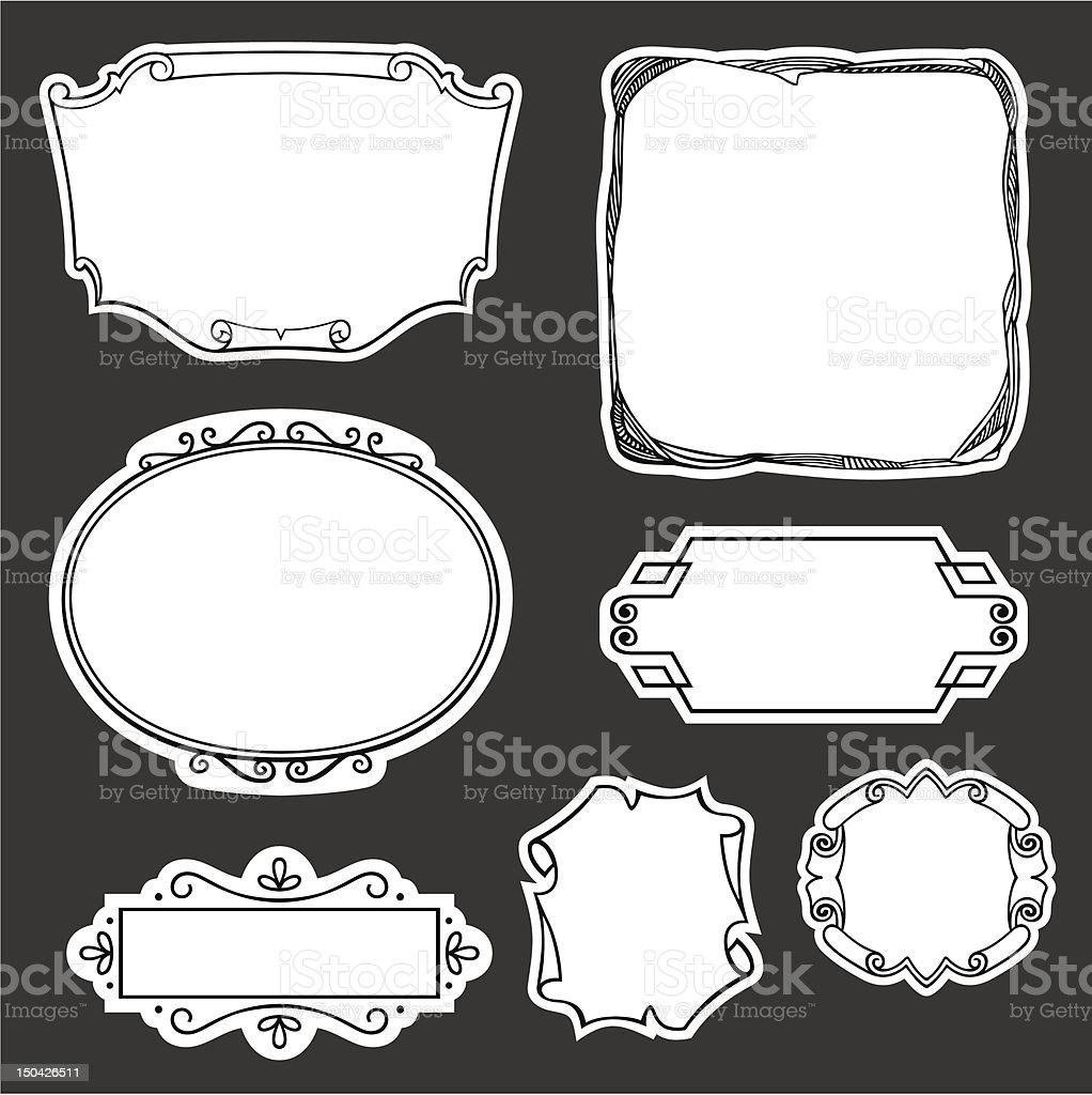 Set of frames royalty-free set of frames stock vector art & more images of classical style