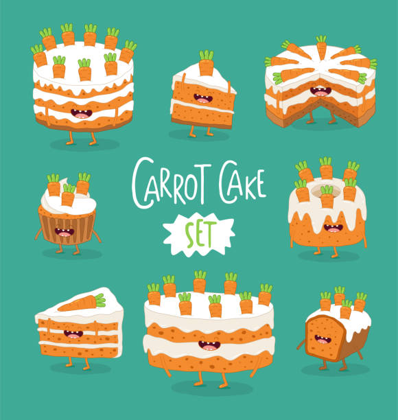 Best Carrot Cake Illustrations, Royalty-Free Vector ...