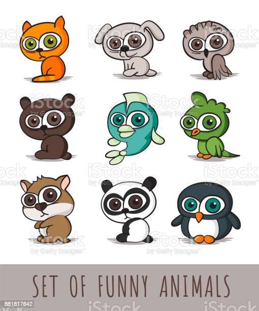 Set of funny cartoon animals on white background vector illustration vector id881817642?b=1&k=6&m=881817642&s=612x612&h=74qjwck7knyjdhnfw1eqae5ijxgvzv7b4 nfenmwqva=