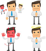 set of funny cartoon office worker in various poses for use in presentations, etc.http://savepic.ru/2309453.jpg