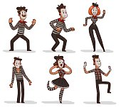 Set of funny mimes