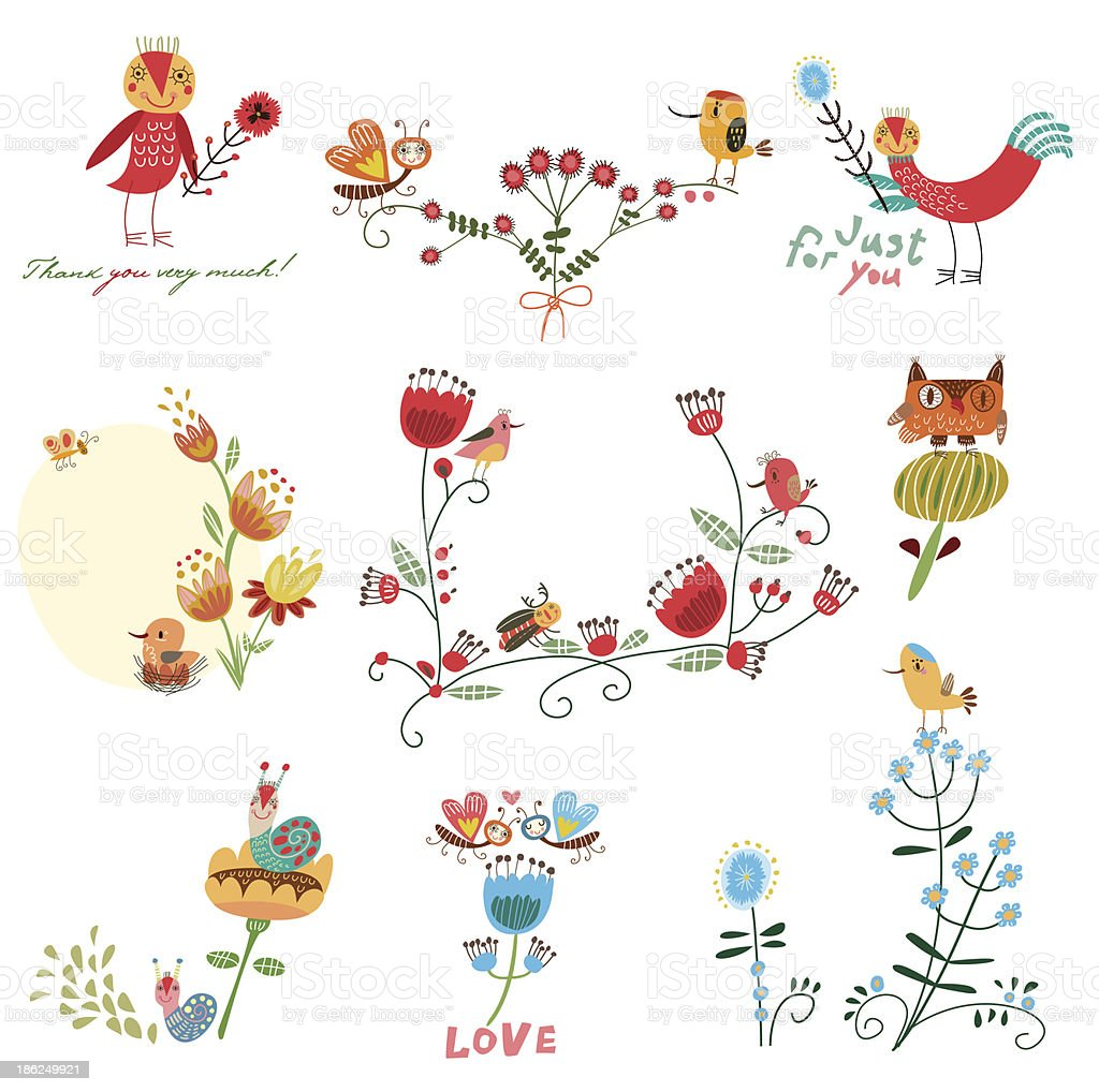 Set of funny pictures royalty-free stock vector art