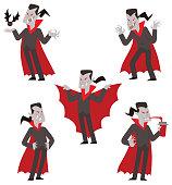 Set of funny vampires