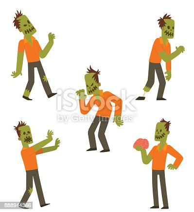 Set of funny zombies
