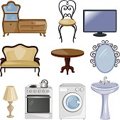 set of furniture and equipment for the home