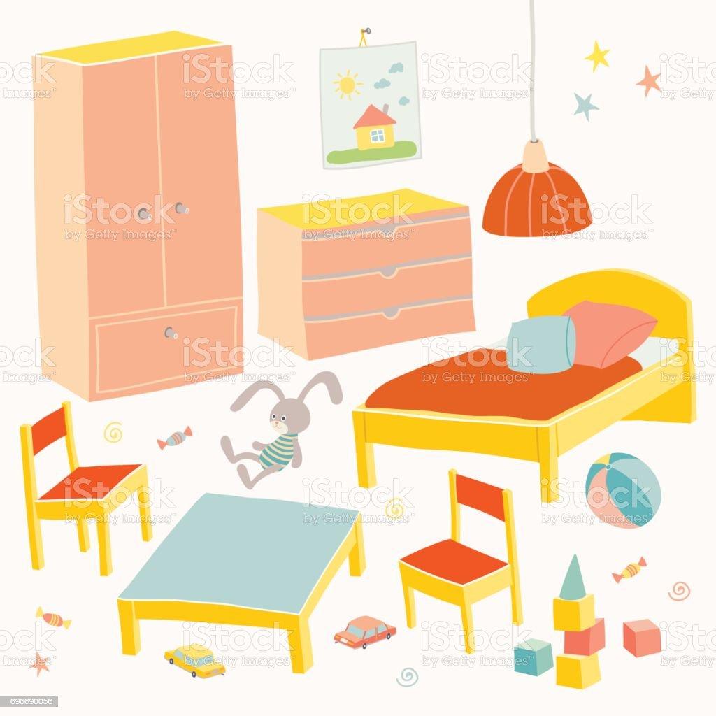 Ensemble De Meubles Pour Chambre Denfants Les Enfants Petits Meubles
