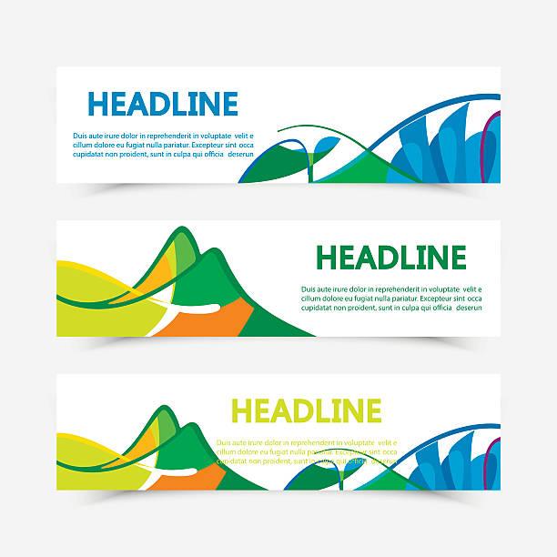 ilustrações de stock, clip art, desenhos animados e ícones de conjunto de cores da bandeira do brasil fyers - rio de janeiro