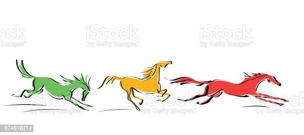 Set of galloping red yellow orange horses in motion on white line vector id674916214?b=1&k=6&m=674916214&s=612x612&h=hhieas0hic9hli1b08o9uybzzaehi6hsfztqyuwtzpw=