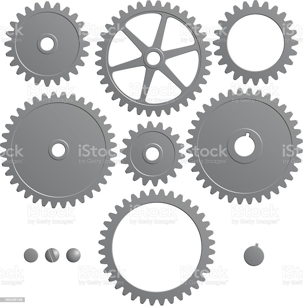 Set of gears royalty-free stock vector art