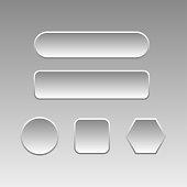 Set of gemmetric buttons for web design