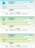 Set of generic company check designs