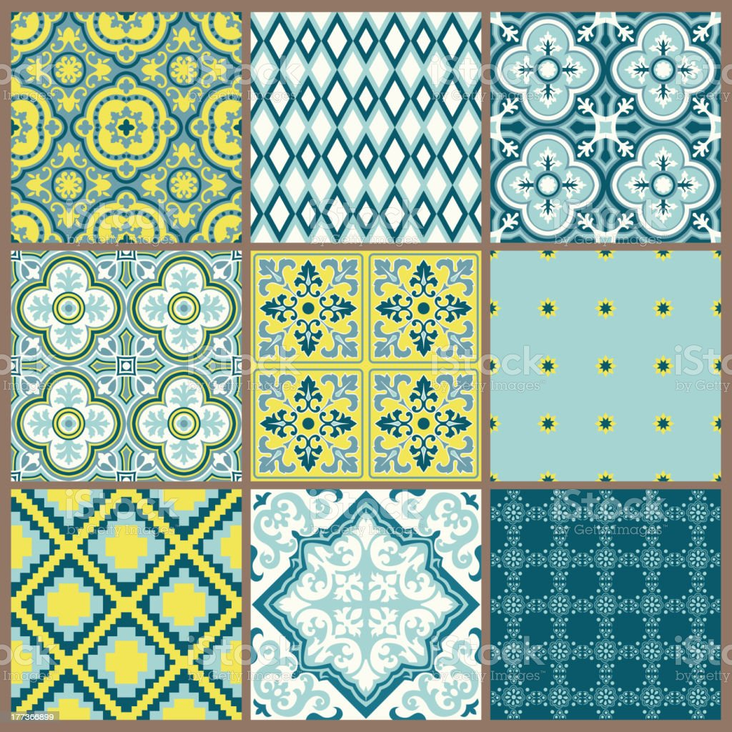 Set of Geometric Backgrounds royalty-free stock vector art