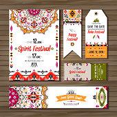Vector decorative ethnic greeting card or invitation design background