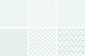 Set of geometric line abstract seamless herringbone and chevron pattern