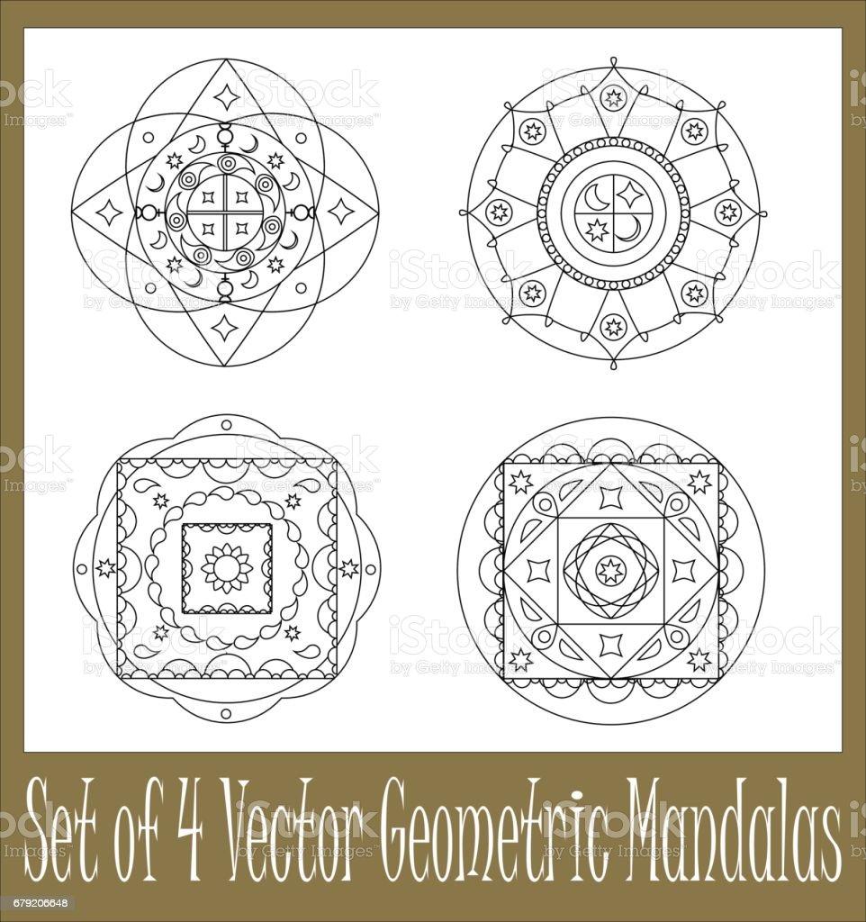 Ilustración De Conjunto De Ilustraciones De Vectores Geométricos