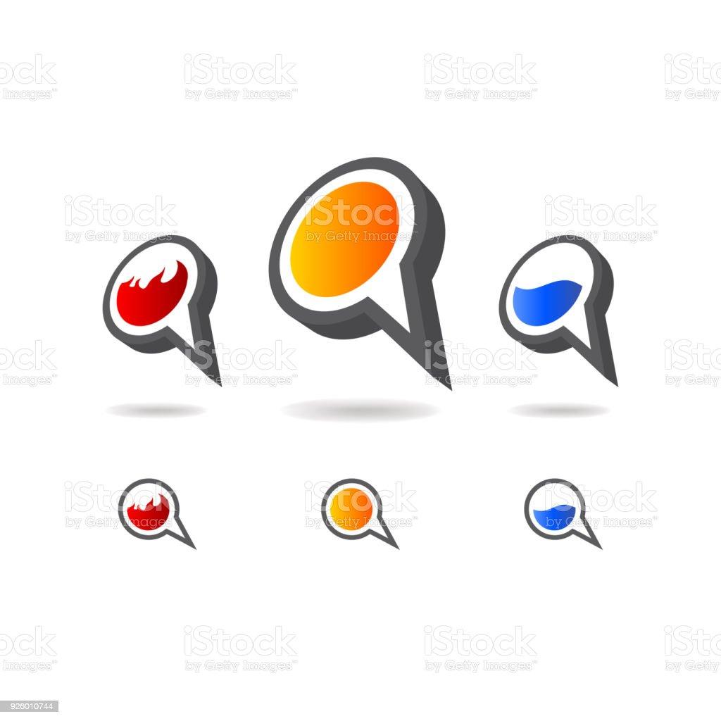 Ilustración de Conjunto De Formas Geométricas Burbuja Multicolor ...