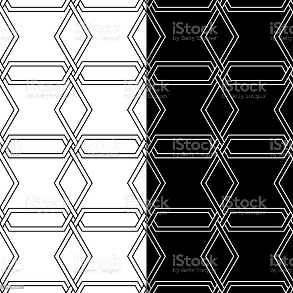 Ilustración de Conjunto De Ornamentos Geométricos Blanco Y Negro Sin ...