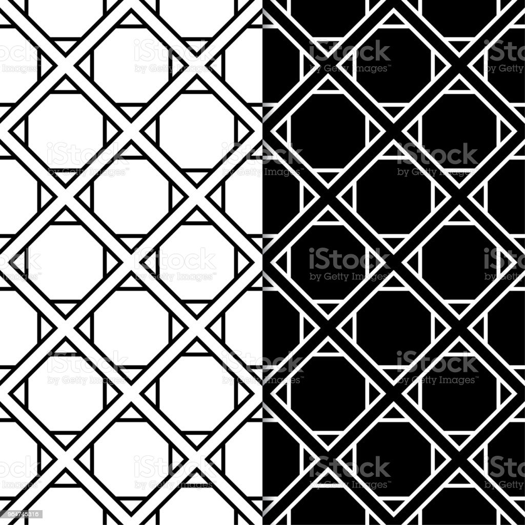 Set of geometric ornaments. Black and white seamless patterns royalty-free set of geometric ornaments black and white seamless patterns stock vector art & more images of abstract