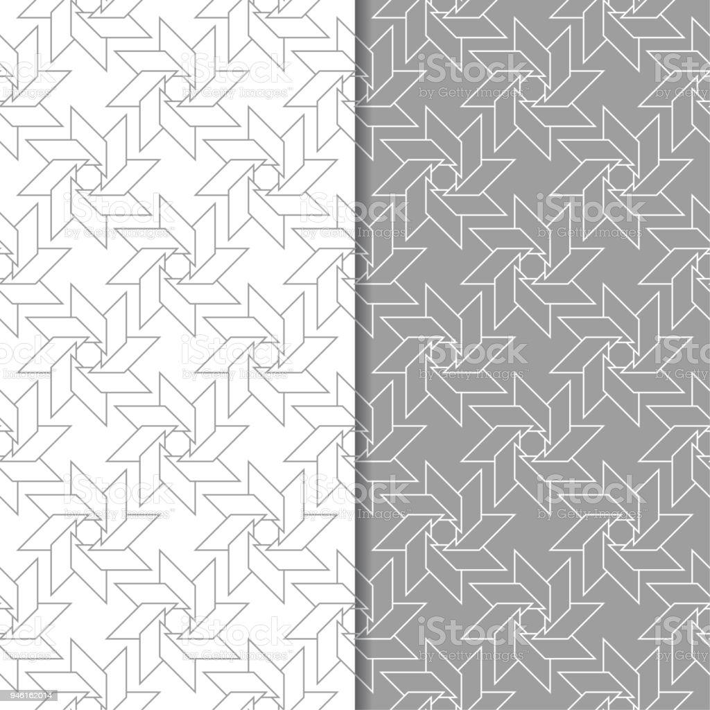 Ilustración de Conjunto De Ornamentos Geométricos Patrones Sin ...