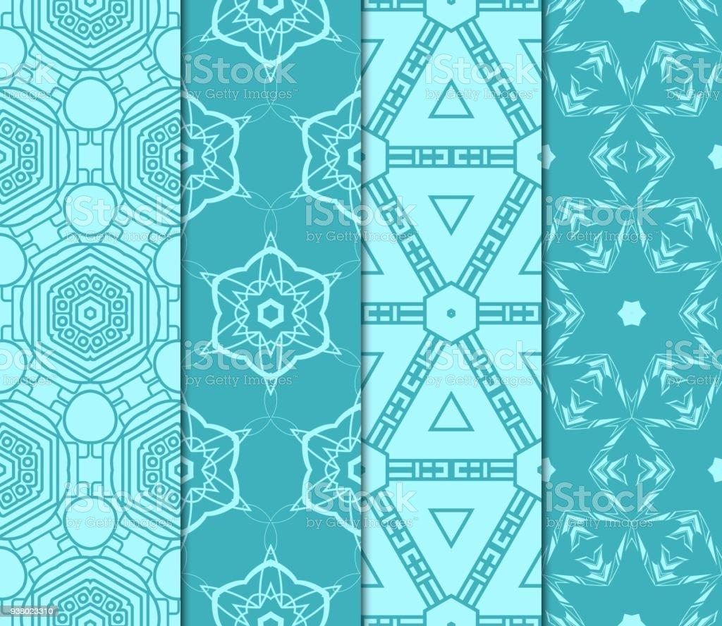 Ilustraci n de conjunto de patr n geom trico sin fisuras for Papel tapiz de patron para el pasillo