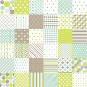 Set of geometric seamless pattern