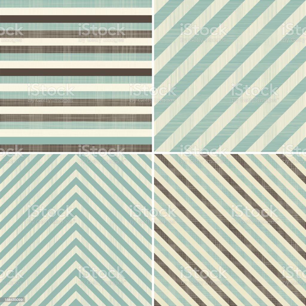 set of geometric seamless patterns royalty-free stock vector art