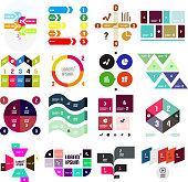 Set of geometrical infographic