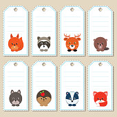 Set of gift tags