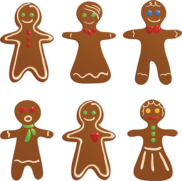 Gingerbread Man Clip Art, Vector Images & Illustrations ...