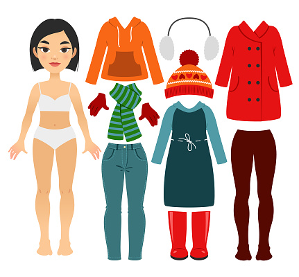 Set of girl's warm clothes