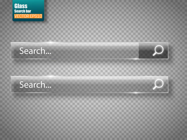 satz von glas suchleisten isoliert. vektor vorlage für webseiten - entdeckungskiste stock-grafiken, -clipart, -cartoons und -symbole