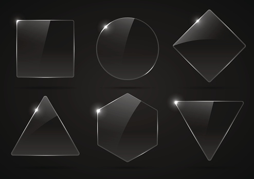 Glass texture stock illustrations