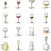 A set with 12 types of glass to wine, water, juice ecc.