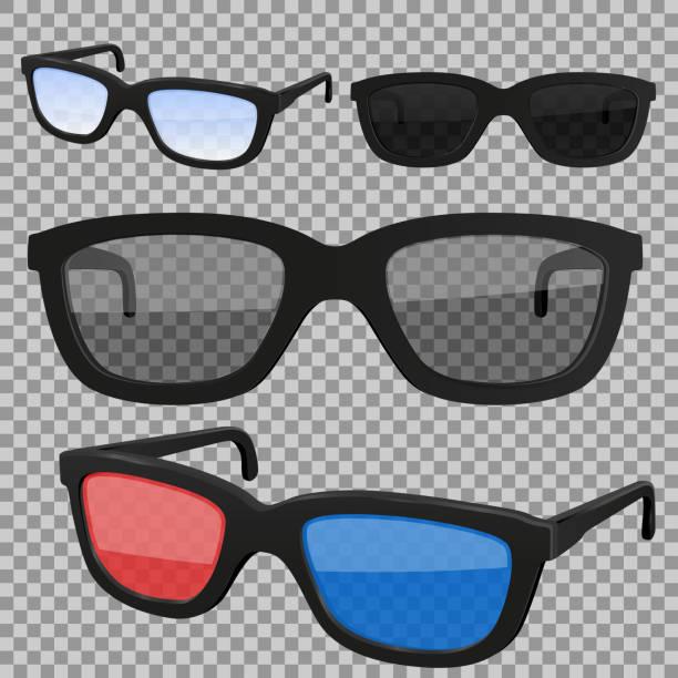 一套眼鏡,隔離向量藝術插圖
