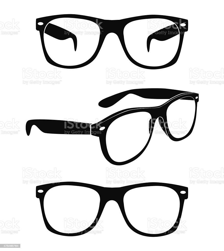 set of glasses vector vector art illustration