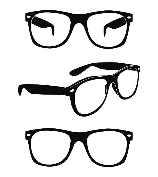 vektor-satz von gläser - uncool stock-grafiken, -clipart, -cartoons und -symbole
