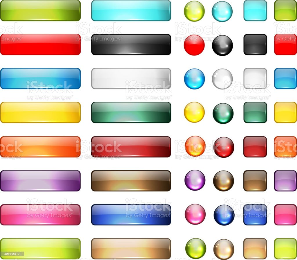 Set of glossy button icons for your design royalty-free set of glossy button icons for your design stock vector art & more images of backgrounds