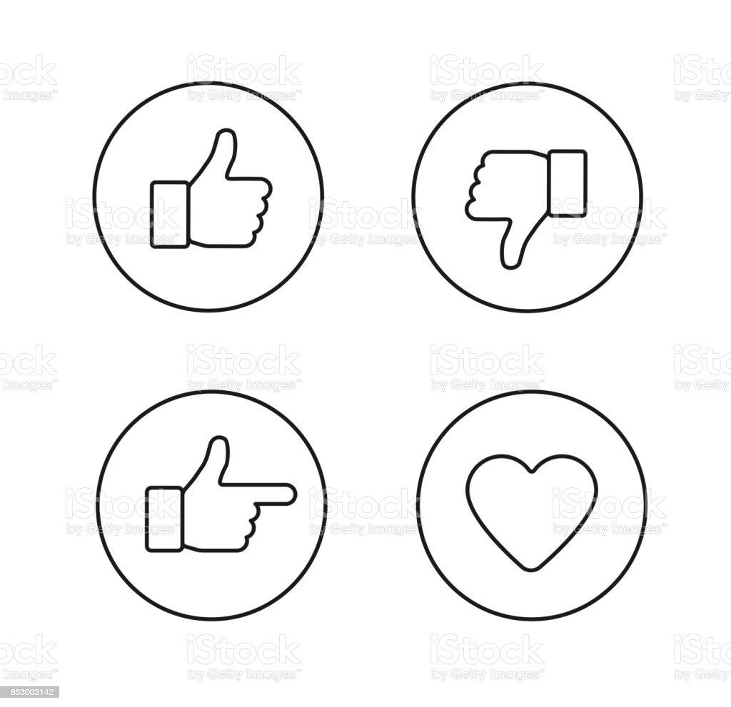 Satz von glänzenden internet icons - Lizenzfrei Biegung Vektorgrafik
