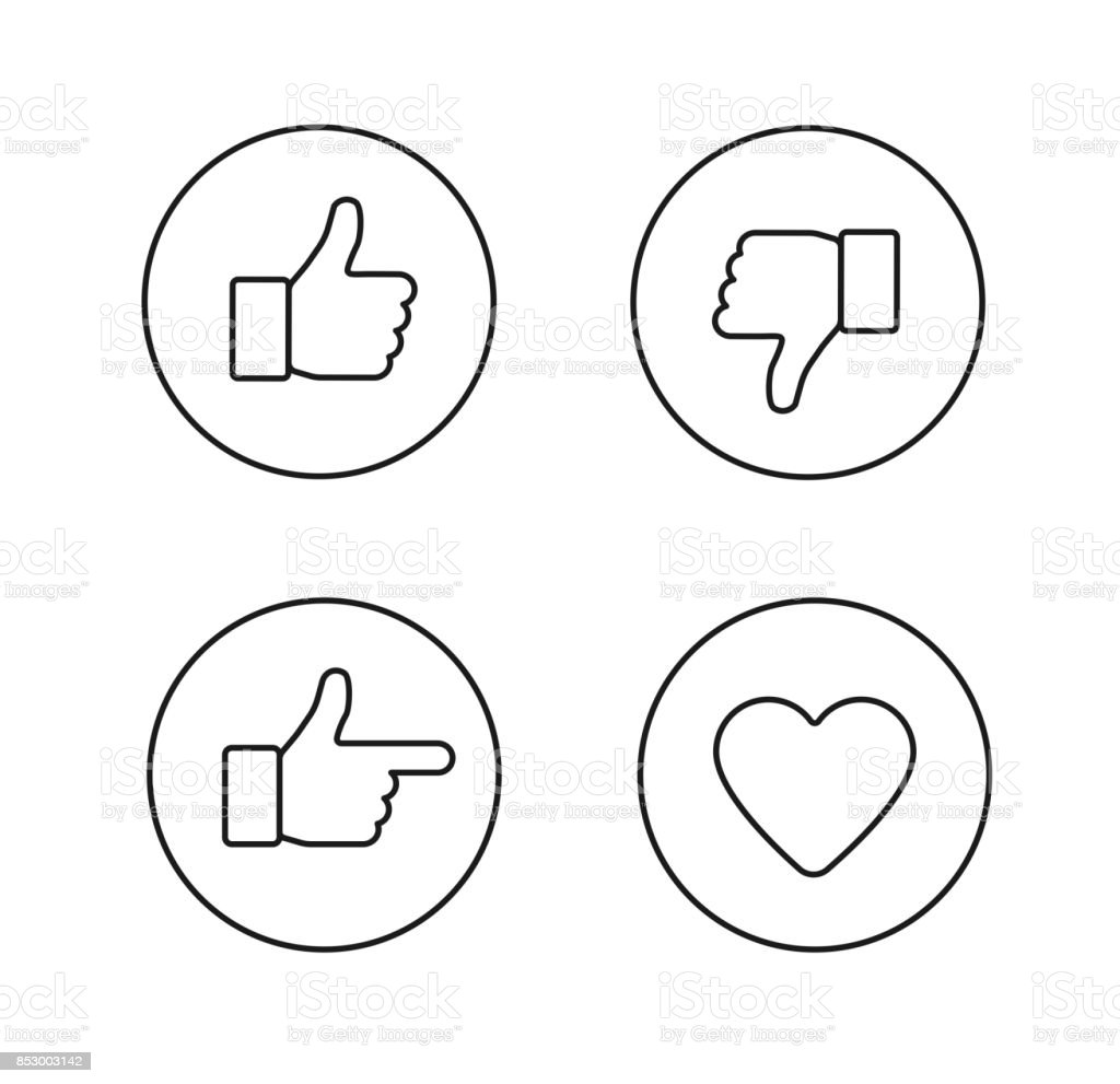 Set of glossy internet icons vector art illustration