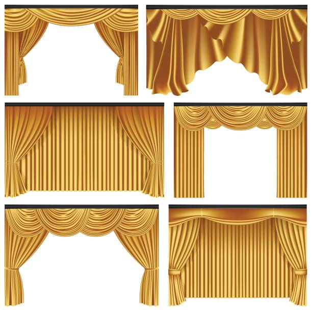 Best Curtain Illustrations, Royalty-Free Vector Graphics