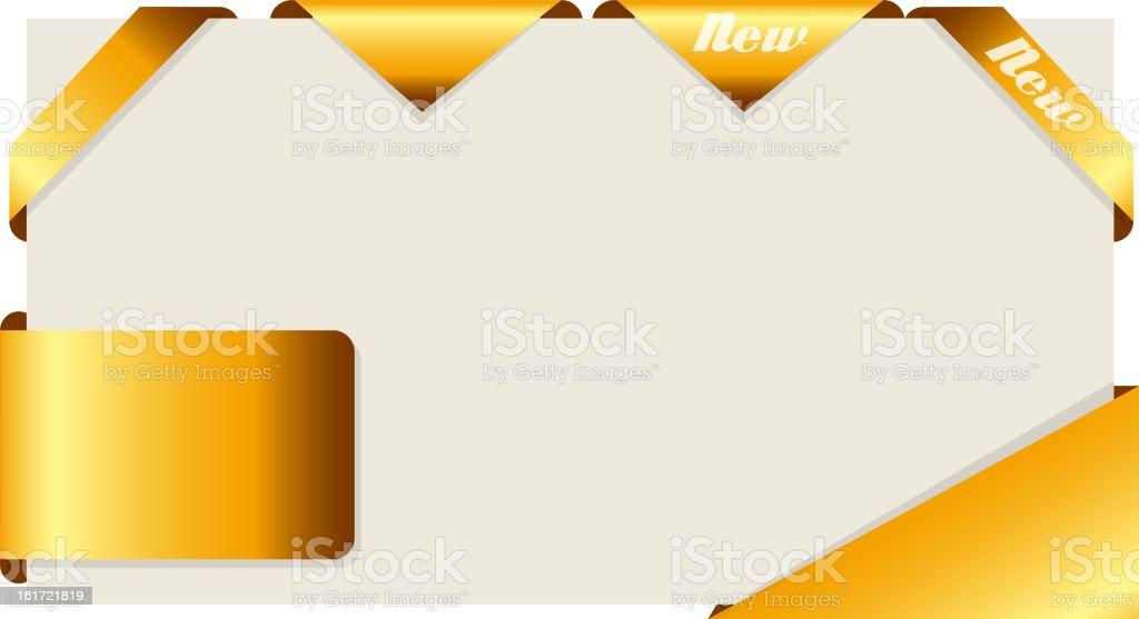 Set of gold ribbons. Vector illustration. royalty-free stock vector art