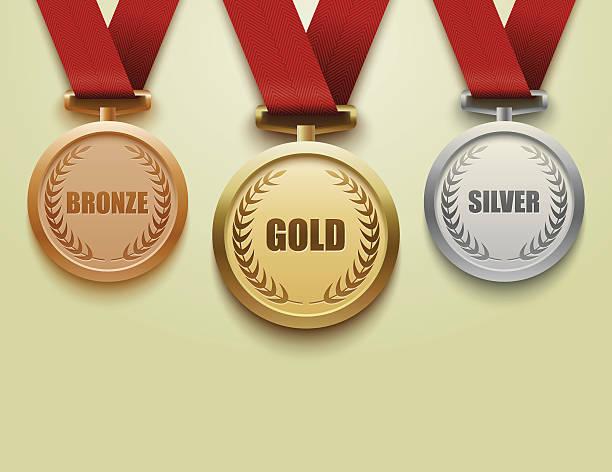 セットのゴールド、シルバー、ブロンズ medals.vector - メダル点のイラスト素材/クリップアート素材/マンガ素材/アイコン素材