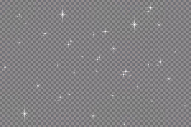 набор эффектов золотых светящихся огней изолирован на прозрачном фоне. вспышка солнца с лучами и прожектором. эффект свечения света. звезд� - блестящий stock illustrations