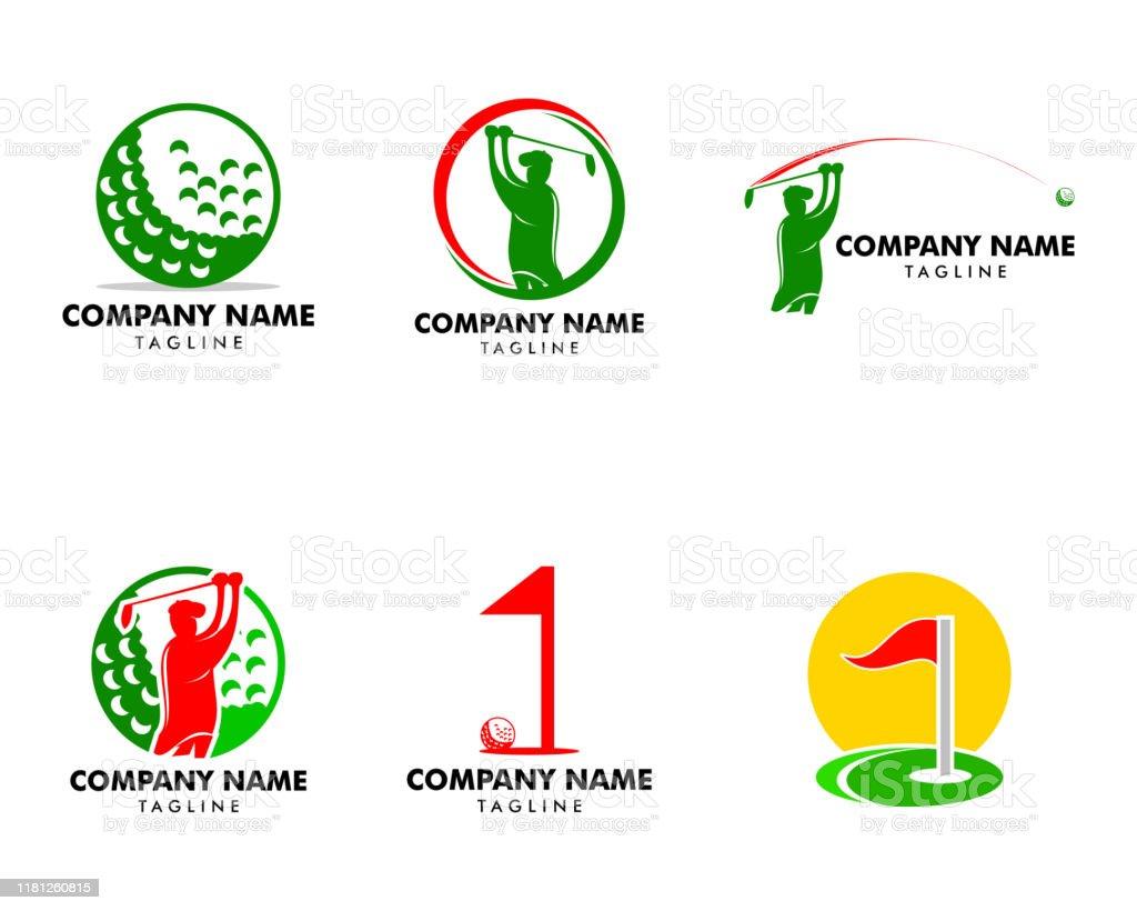Set Of Golf Club Logo Design Template Vector Illustration Stock Illustration Download Image Now Istock