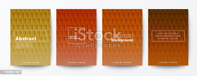 Set of gradient brick wall background. abstract brown color pattern background for Brochure, Flyer, Poster, leaflet, Report, Book cover, Banner, Presentation, Website, wallpaper.