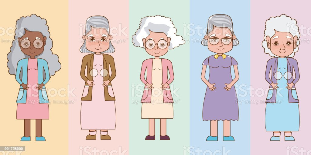 Set of grandparents cartoons royalty-free set of grandparents cartoons stock vector art & more images of adult
