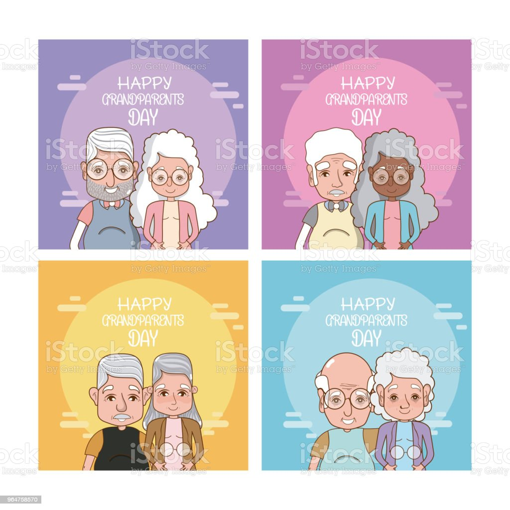 Set of grandparents day cards royalty-free set of grandparents day cards stock vector art & more images of adult