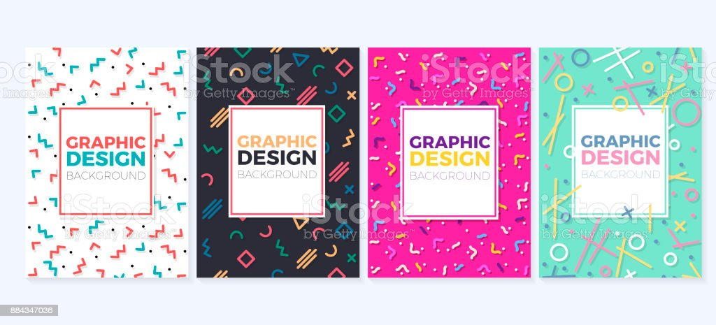 Set of graphic design trendy and geometric backgrounds can be used set of graphic design trendy and geometric backgrounds can be used as covers placards reheart Choice Image