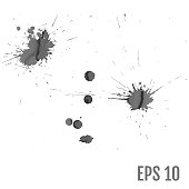 istock Set of gray splash on white background vector illustration. All elements are not grouped. 1028380058